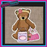 CUTE BEAR DESIGN JUTE  SHOPPING LADIES GIFT BAG 005